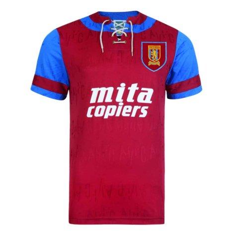 Score Draw Aston Villa 1992 Retro Football Shirt