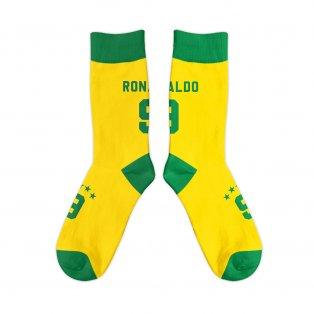 Brazil 1998 Ronaldo Retro Football Socks