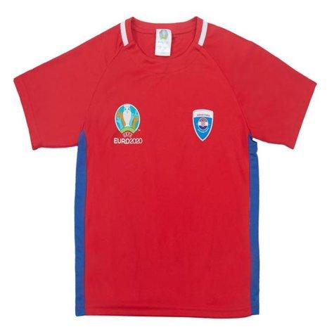 Croatia 2021 Polyester T-Shirt (Red) - Kids