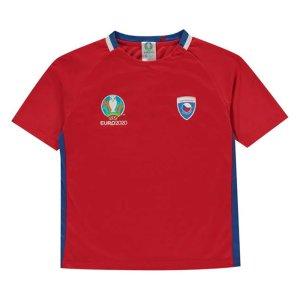 Czech Republic 2021 Polyester T-Shirt (Red) - Kids