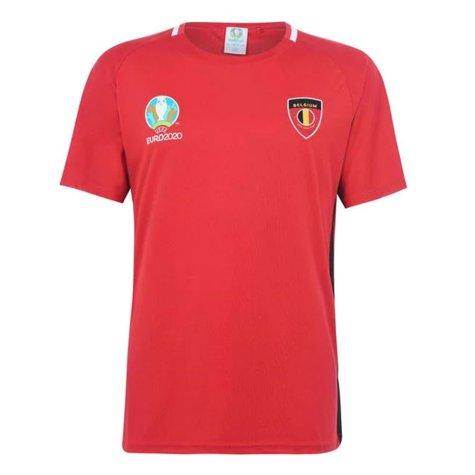 Belgium 2021 Polyester T-Shirt (Red)
