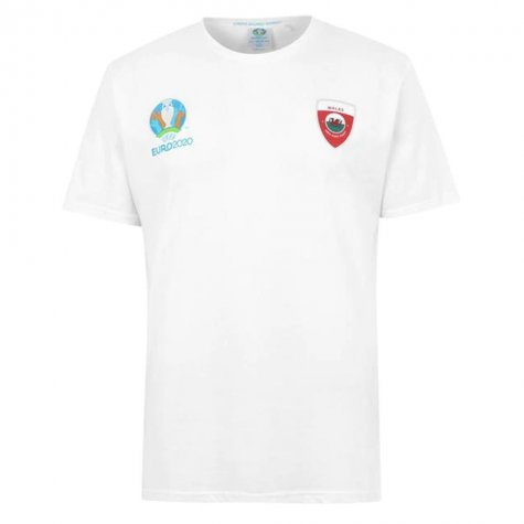 Wales 2021 Polyester T-Shirt (White)
