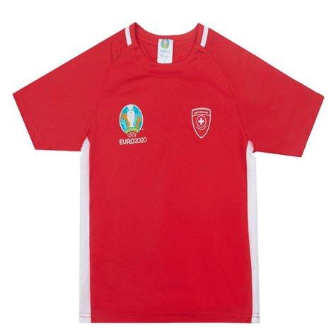 Switzerland 2021 Polyester T-Shirt (Red) - Kids