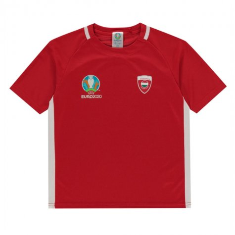Hungary 2021 Polyester T-Shirt (Red) - Kids