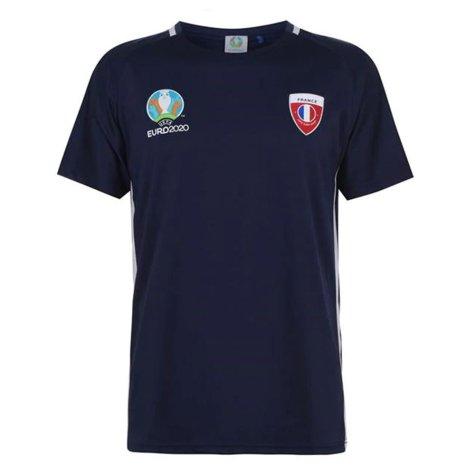France 2021 Polyester T-Shirt (Navy)