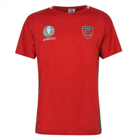 Portugal 2021 Polyester T-Shirt (Red)