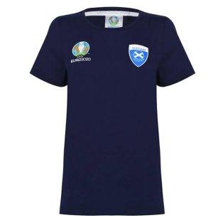 Scotland 2021 Polyester T-Shirt (Navy) - Ladies