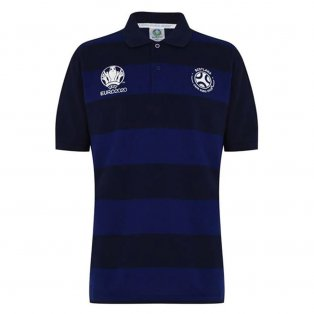 Scotland 2021 Stripe Polo Shirt (Navy)