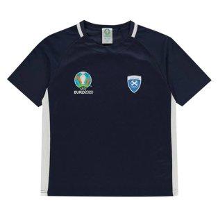 Scotland 2021 Polyester T-Shirt (Navy) - Kids