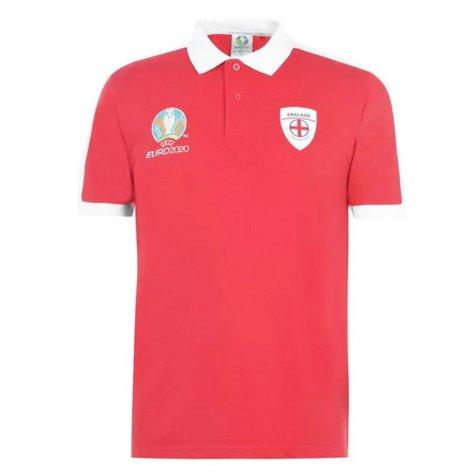 England 2021 Core Polo Shirt (Red)