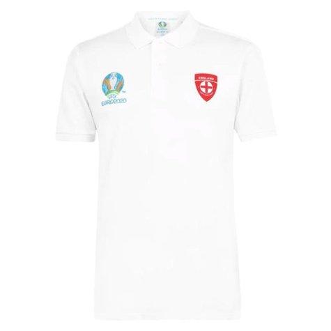 England 2021 Core Polo Shirt (White)