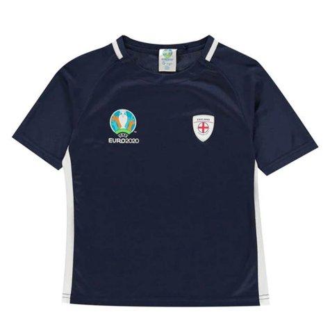 England 2021 Polyester T-Shirt (Navy) - Kids