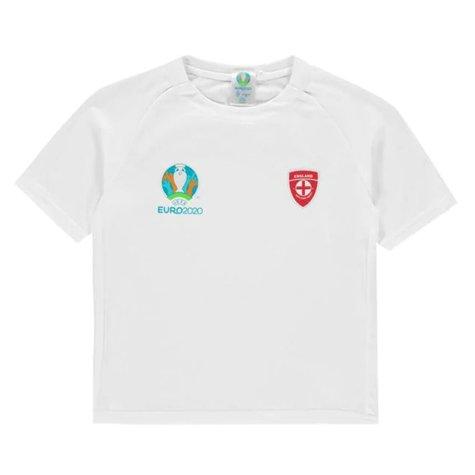 England 2021 Polyester T-Shirt (White) - Kids