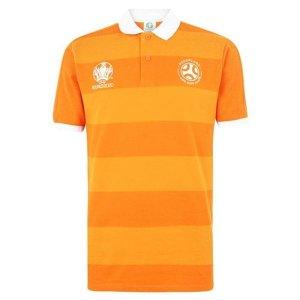 Holland 2021 Stripe Polo Shirt (Orange)