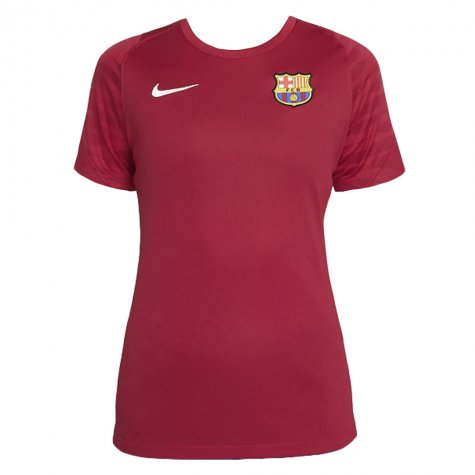 2021-2022 Barcelona Training Shirt (Noble Red) - Womens