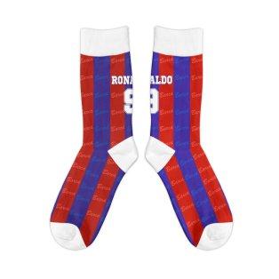 Barcelona 1996-1997 Ronaldo Retro Football Socks
