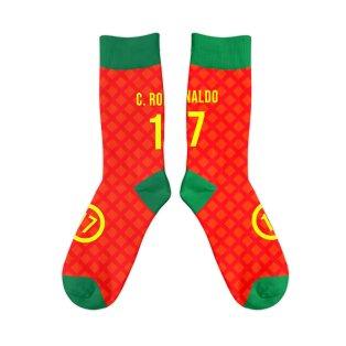 Portugal 2004 C.Ronaldo 17 Retro Football Socks
