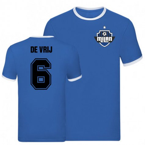 Stefan De Vrij Inter Milan Ringer Tee (Blue)