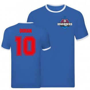 Aaron Doran Inverness Caledonian Thistle Ringer Tee (Blue)