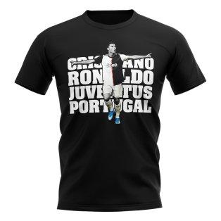 Cristiano Ronaldo Juventus Player T-Shirt (Black)
