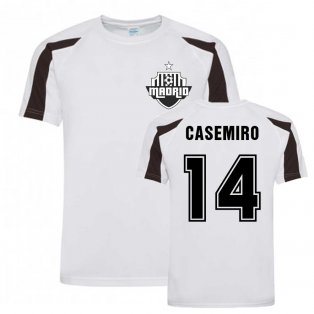 Casemiro Madrid Sports Training Jersey (White)