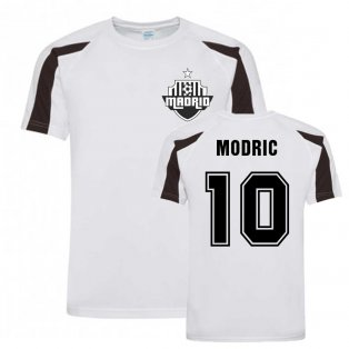 Luka Modric Madrid Sports Training Jersey (White).