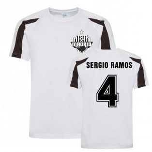 Sergio Ramos Madrid Sports Training Jersey (White)