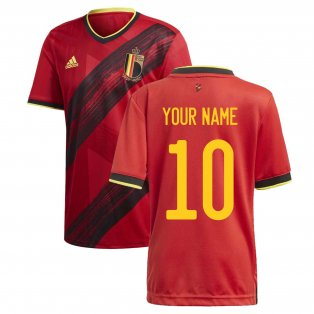 2020-2021 Belgium Home Adidas Football Shirt (Your Name)