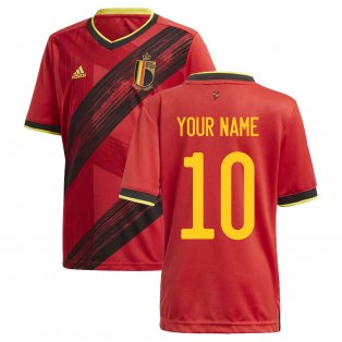 2020-2021 Belgium Home Adidas Football Shirt (Kids) (Your Name)