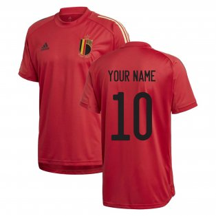 2020-2021 Belgium Adidas Training Shirt (Red) (Your Name)