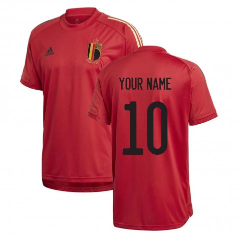 2020-2021 Belgium Adidas Training Shirt (Red) (Your Name)