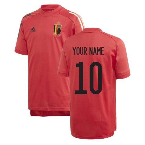 2020-2021 Belgium Adidas Training Shirt (Red) - Kids (Your Name)