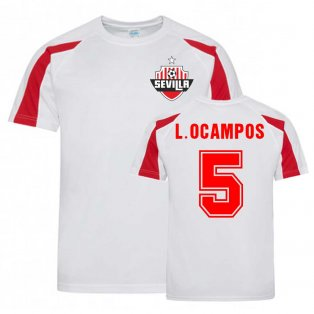 Lucas Ocampos Sevilla Sports Training Jersey (White-Red)