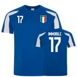Italy Sports Training Jersey (Immobile 17)