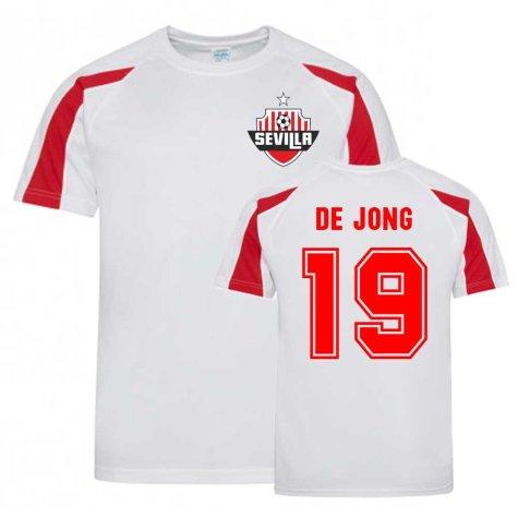 Luuk de Jong Sevilla Sports Training Jersey (White).