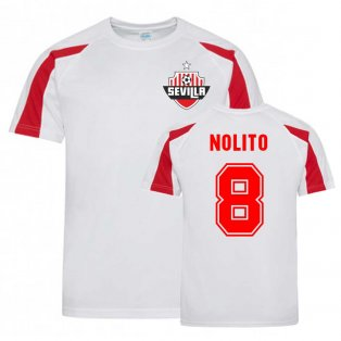 Nolito Sevilla Sports Training Jersey (White).