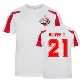 Oliver Torres Sevilla Sports Training Jersey (White).