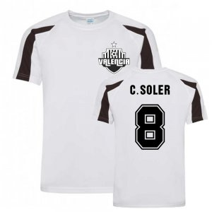 Carlos Soler Valencia Sports Training Jersey (White).