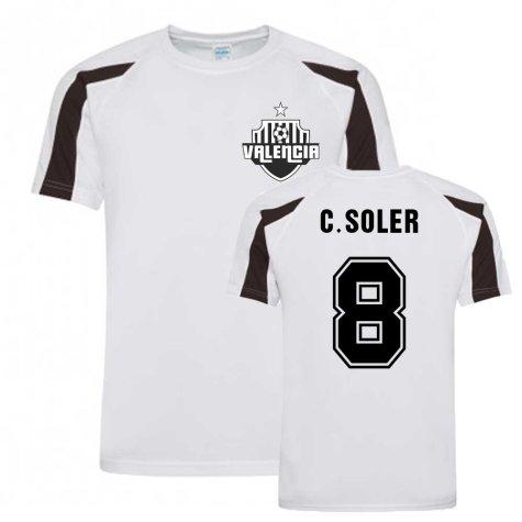 Carlos Soler Valencia Sports Training Jersey (White).