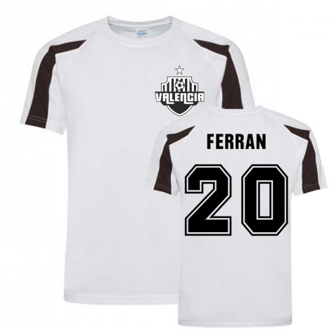 Ferran Torres Valencia Sports Training Jersey (White).