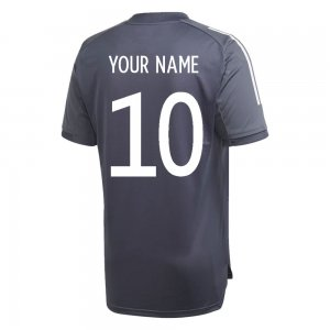 2020-2021 Germany Adidas Training Shirt (Onix) (Your Name)