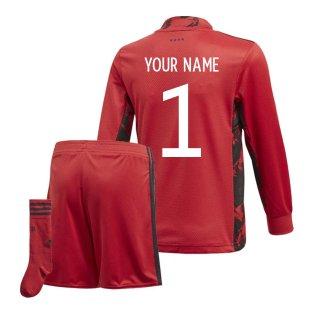 2020-2021 Germany Home Adidas Goalkeeper Mini Kit (Your Name)