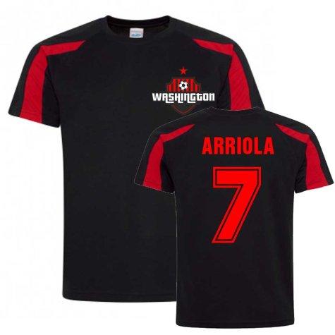 Paul Arriola Washington Sports Training Jersey (Black)