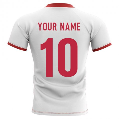 2020-2021 Wales Flag Concept Rugby Shirt (Your Name)