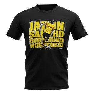 Jadon Sancho Football Player T-Shirt (Black)