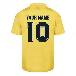 Score Draw Barcelona 1982 Away Shirt (Your Name)