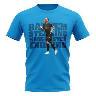 Raheem Sterling Man City Player T-Shirt (Blue)