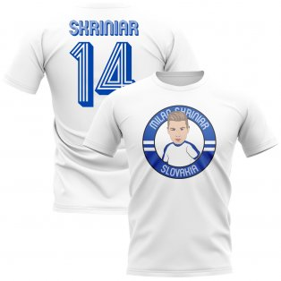 Milan Skriniar Slovakia Illustration T-Shirt (White)