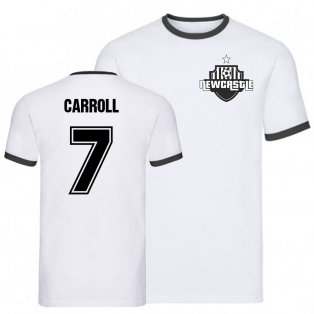 Andy Carroll Newcastle Ringer Tee (White)