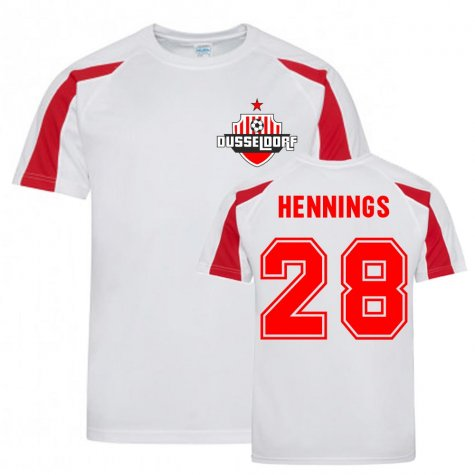 Rouwen Hennings Dusseldorf Sports Training Jersey (White)